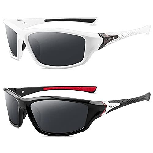 Grainas Gafas de sol deportivas polarizadas para hombre y mujer, para ciclismo, esquí, conducción, pesca, correr, senderismo, protección UV400