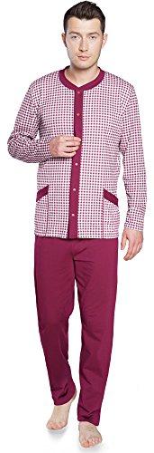 Italian Fashion IF Herren Schlafanzug IF180039 (Weinrot, L)