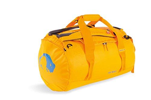 Tatonka Barrel M Reisetasche - 65 Liter - wasserfeste Tasche aus LKW-Plane mit Rucksackfunktion und großer Reißverschluss-Öffnung - Rucksacktasche - unisex - gelb