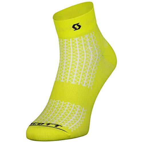 Scott Performance Quarter Fahrrad Socken gelb 2022: Größe: 45-47