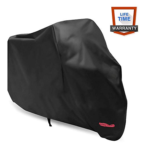 Motorcycle CoverWDLHQC 210D Waterproof Motorcycle Cover All Weather Outdoor ProtectionOxford Durable amp Tear ProofPrecision Fit for 105 inch Motors