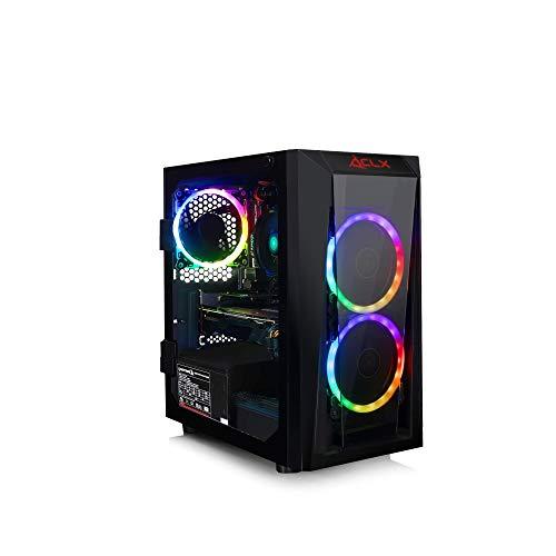 CLX Set Gaming Desktop E-Sports AMD Ryzen 3 3200G 3.6GHz 4-Core, GeForce GTX 1650 4GB, 8GB DDR4, 480GB SSD, WiFi, Black Mini-Tower RGB Fans, Windows 10 Home