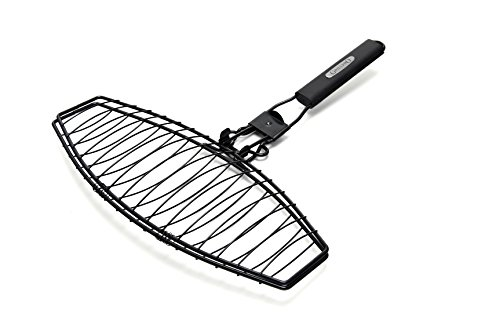 GrillPro 21015 Detachable Handle Fish Basket