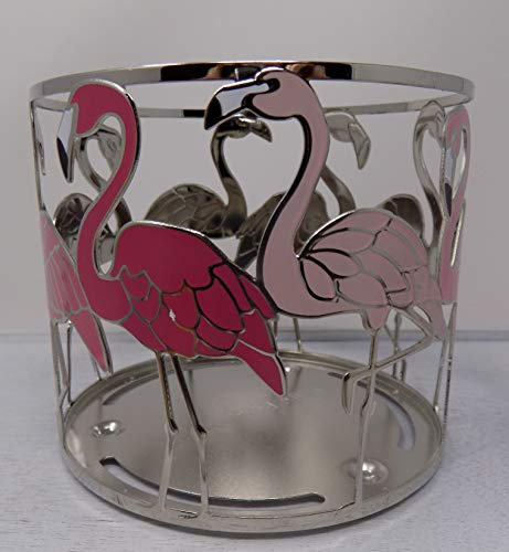 White Barn BBW Flamingos from Dark Pink to Light Pink All Around 3 Wick Candle Holder