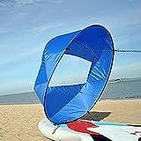 Vela per Kayak 42'/108 cm, Kayak Wind Sail Paddle, SUP Paddle Board Vela per Barche con custodia, Downwind Wind Sail Kit per Canoe, Gommoni, Tandem, Barche da Spedizione