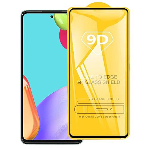 HUANGPUJIAN Teléfono Carcasas Para Samsung Galaxy A52 5G 9D Full Glue Película de vidrio templado de pantalla completa