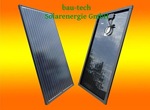 bau-tech Solarenergie 30Watt Solarmodul Solarpanel Monokristallin Full Black (Schwarz) GmbH