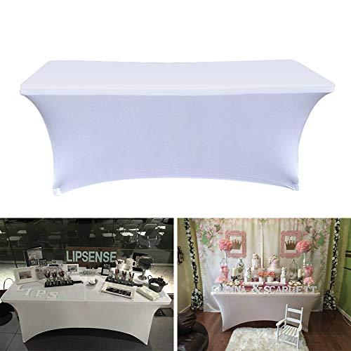 ELEOPTION - Mantel rectangular elástico para mesa DJ: fundas de mesa ajustadas,...