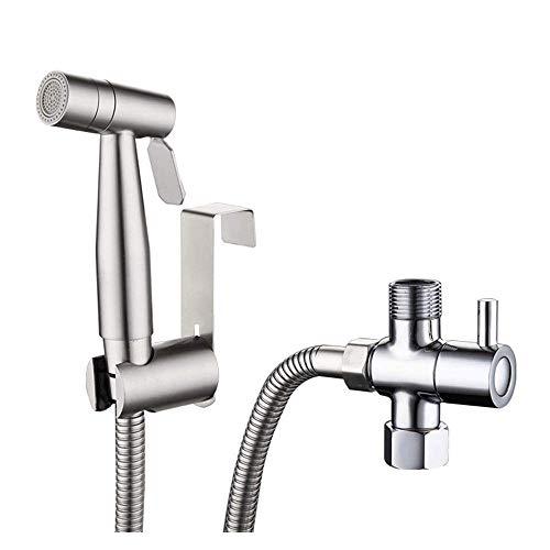 FZYE Handheld Bidet Toilettensprühgerät, Edelstahlrohrsprayaufsatz für Damenwäsche, Haustier, Bad oder Toilette, Wand- oder Toilettenhalterung