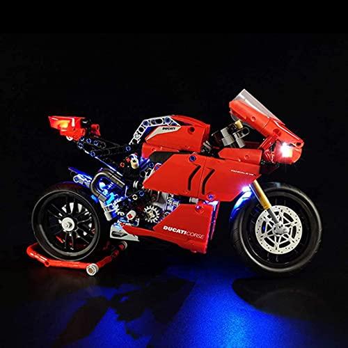 Kit de iluminación LED para Lego V4R modelos de motocicleta - Kit de luz LED compatible con Lego 42107 (kit de luz solamente)