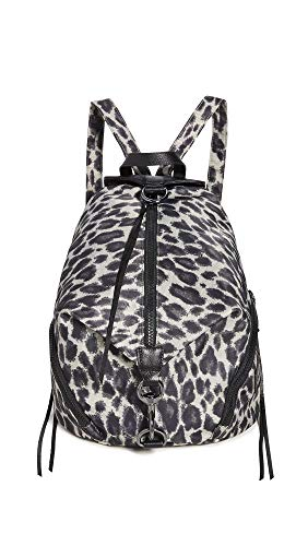 Rebecca Minkoff Women's Julian Nylon Backpack, Leopard, Print, Grey, One Size