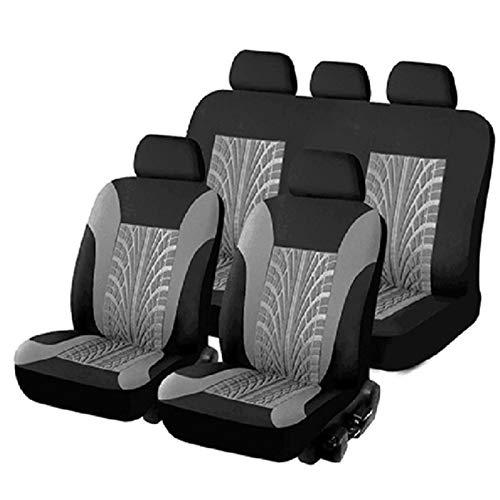 Cubiertas de asiento de automóvil de encirclo completo Conjunto Universal Fit Must Cars Cubiertas con patrón de mariposa Detalle de la pista de neumáticos Detalle de los protectores de estilismo para