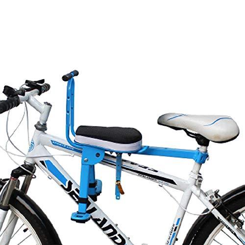 lennonsi Enfant Vélo Siège, Avant Mont Enfant Vélo Siège pour Enfants en Bas Âge, Pliable Et Ultra-légers Porte-vélos pour Enfants De Bébé Main Courante pour VTT