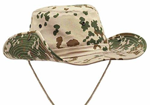 A. Blöchel US Army Outdoor Rangerhut Buschhut Boonie Hat aus stabilem Rip Stopp in vielen Farben und Größen (L, Tropentarn)