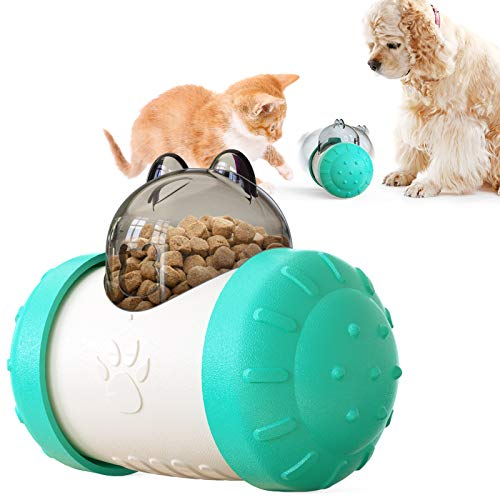 NBPLQP Cat and Dog Puppy Catering Toy Rocking Bear Interactive Chase Toy pet Slow Feeding Educational Toys
