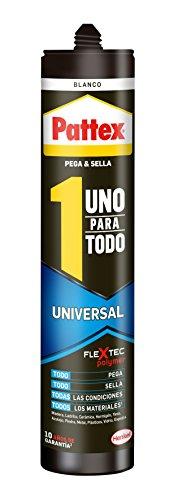 Pattex Uno para todo Universal, sellado, reparación, montaje, blanco, 390g