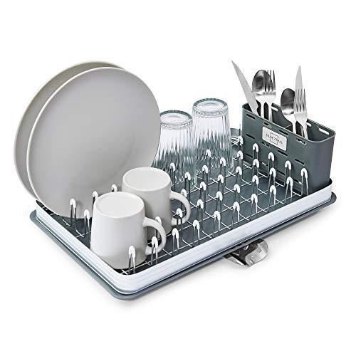SILBERTHAL Geschirr Abtropfgestell - Rostfrei - Mit Abtropfschale, Geschirrkorb, Besteckkasten - Kunststoff