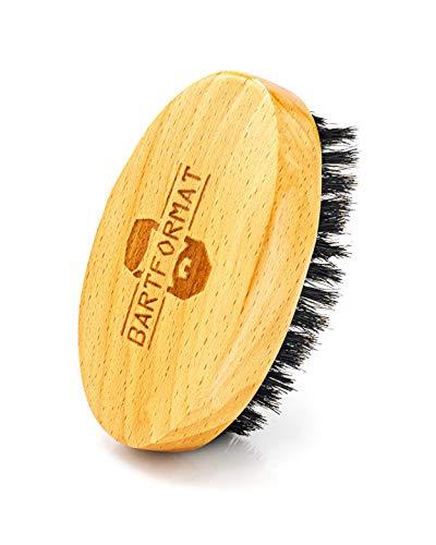 Bart Format Spazzola da barba in legno di faggio con setole di cinghiale–Rende il Barba Capelli soffice...