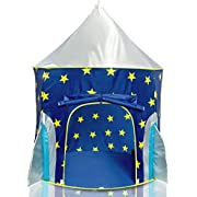 USA Toyz Rocket Ship Play Tent - Spaceship Playhouse for Kids with Bonus Space Torch Projector Toy – Space Playhouse for Boys & Girls