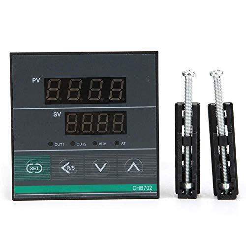 GNLIAN HUAHUA Cicly Timer Relay CHB702 Controlador de Temperatura, termostato Inteligente de Pantalla Digital de Temperatura Controlador de relé/SSR AC180-240V Salida 0-400  Tablero Industrial