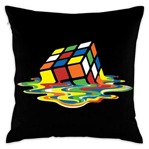 cont Melting Cube Classic Big Bang Sheldon Rubik Decorative Lumbar Pillow Covers Case Pillowcases Fundas para Almohada 22x22Inch(55cmx55cm)