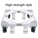 TISESIT INDOOR Waschmaschine Säulenstativ Mit 4 Rädern 4Feet Universal-Appliance Rollen Trolley Für Waschmaschine, Wäschetrockner, Kühlschrank