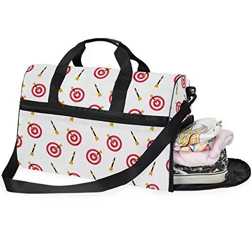 Buyxbn Darts Game Duffel Bag mit Schuhfach Extra Large Weekend Travel Pro Training Reisetasche für Männer Frauen Unisex 35-40 L