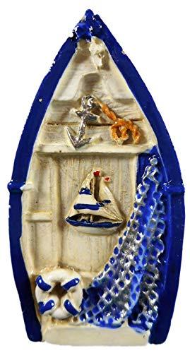 Imán de barco 7 x 4 cm, flotador marítimo, gaviota, barco, ancla, red, pescado, estrella de mar, imán para nevera, figura decorativa 17870 B