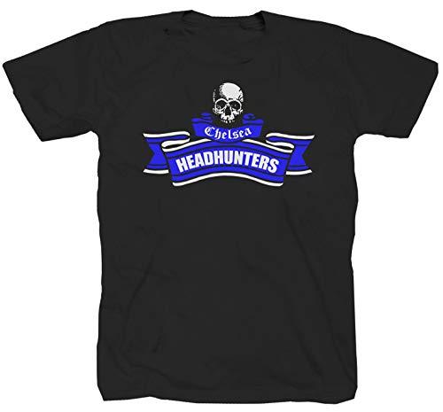 Headhunters London Football schwarz T-Shirt (2XL)