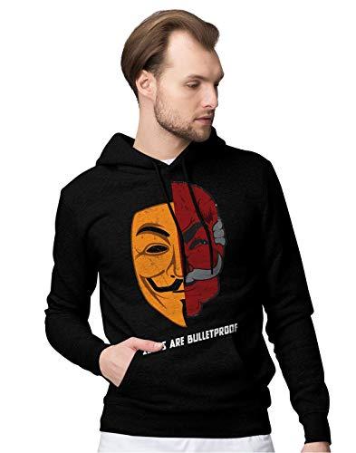 BLAK TEE Herren Ideas Are Bulletproof Fsociety Meets V VendettaKapuzenpullover XXL