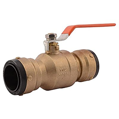 SharkBite SBBV41 Brass Ball Valve, 1 1/2 Inch x 1 1/2 Inch, Water Valve Shut Off, Push-to-Connect, PEX, Copper, CPVC, PE-RT by Cash Acme