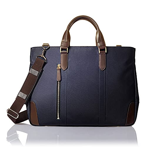 [GLEVIO(グレヴィオ)] ビジネスバッグ メンズ 一流の鞄職人が作る ビジネストートバッグ B4 ネイビー