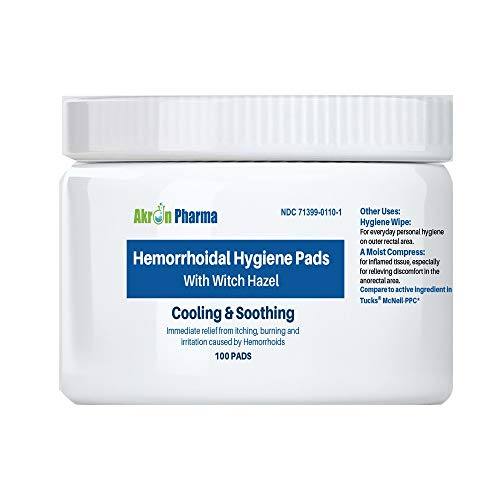 Hemorrhoidal Pads with Witch Hazel Compare to...