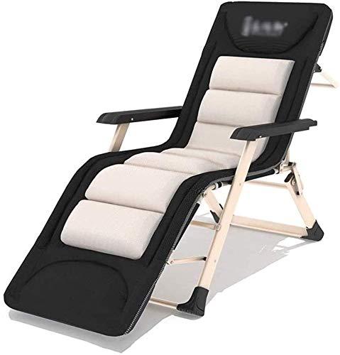 FLLOVE Einzelliegestuhl Klappliegestuhl tragbare Sonnenliegen zu Hause Balkon höhenverstellbare Stühle (Size, 185cm),185cm
