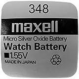 Maxell 348 - SR421 (1.55V) - 1 Pila de óxido de Plata