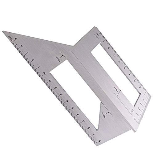 45/90 Degree Saddle Layout Miter Square Gauge Mitre Angle Ruler Aluminum Woodworking Miter Scriber T Ruler Size Measuring Marking Tool for Carpenters Craftsmen Multifunctional (6.7'x2.8'x2.5')