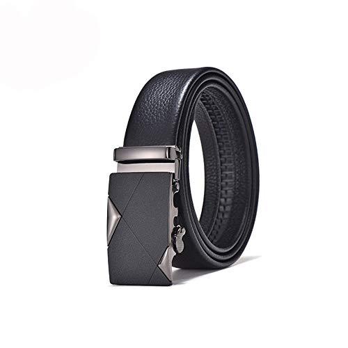 TWFY Cinturón de Hombre de Cuero Clásico Visita de Cuero Hombres Ocasionales de la Correa con Hebilla automática Cinturón de Vestir Casual (Size : 110)