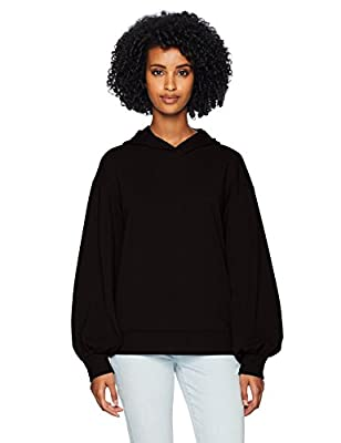 Amazon Brand - Daily Ritual Women's Terry Cotton and Modal Hoodie, black, Large by Daily Ritual