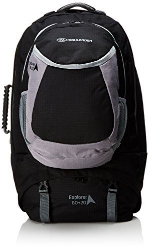 Highlander Explorateur Sac à Dos Noir 80 + 20 L