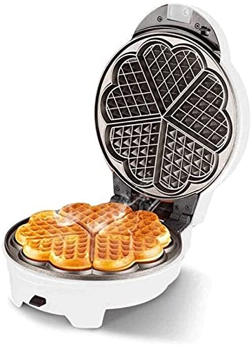 Tostadora Multifuncional y Sandwichera Pan horneado eléctrico Pan de Doble Cara Pan de la Barbacoa Máquina de la Barbacoa Calefacción doméstica Máquina de panqueques (Color : White)