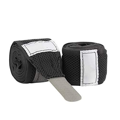 TFGUOqun Vendaje de Boxeo Hombres de Boxeo envolventes de Mano Artes Marciales MMA Vendas de Pulsera para el Combate de Boxeo (Color : Black, US Size : 5M)