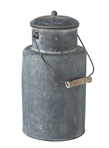 Meinposten. Milchkanne Landhausstil Silber grau Milch Kanne Metall verzinkt Shabby H 38 cm