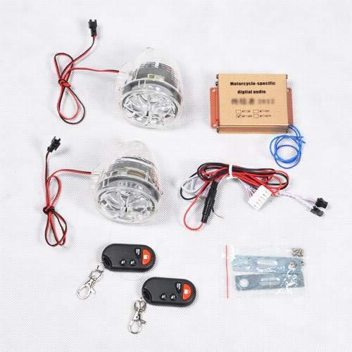 wotefusi Voiture électrique Transparent Haut-parleurs Moto Radio MP3 télécommande