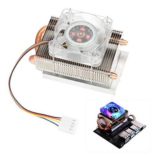 Ventilador de refrigeración de Torre Ice para Jetson Nano, radiador Enfriador de disipación de Calor LED de 7 Colores para Accesorios Jetson Nano