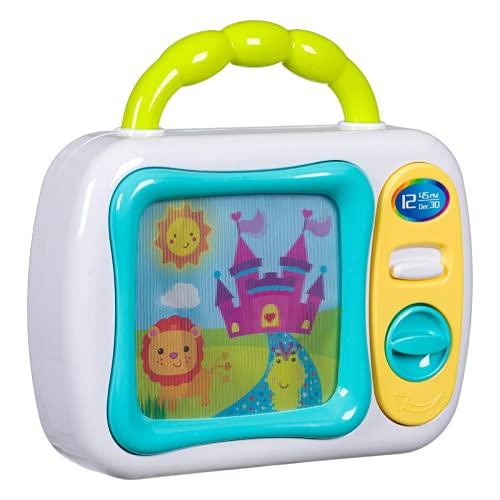 Juguete tipo proyector – Mini TV con presentaciones animadas en colores y música 23 x 23 cm