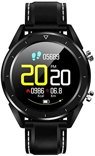 Reloj Inteligente para Hombre IP68 Impermeable USB Carga Control Inalámbrico Reloj Pago ECG Monitor de Ritmo Cardíaco Pulsera Pulsera Inteligente Reloj Deportivo Negro