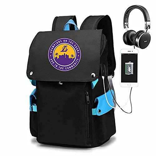 AGLT Bolsa de escuela para aficionados al baloncesto, bolsa de viaje de montañismo para hombres, mochilas deportivas al aire libre, correa de hombro ajustable, interfaz de carga USB, E1