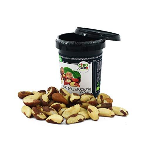 CiboCrudo Noci Brasiliane Sgusciate Biologiche Crude, Raw Organic – 250gr – Noci dell'Amazzonia Bio, Ricche di Sali Minerali e Vitamine, Etichette in Italiano