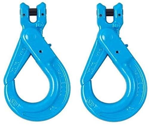 """BA Products Qty. 2, G10-115-38 -x2 3/8"""" Grade 100 SELF Locking Sling Hook with Clevis for Chain, 8800 LB. WLL"""