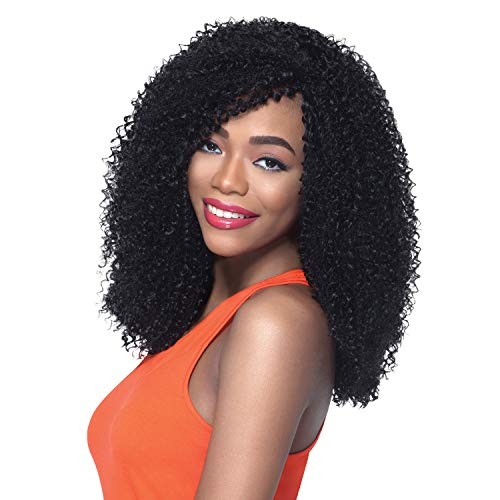 Outre Synthetic Hair Crochet Braids X-Pression Braid 4 In 1 Loop Jerry Curl 14 (6-Pack, 1B)